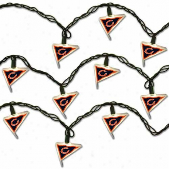 Chicago Bears Pennant Party Lights