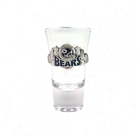 Chicagp Bears Pewter Team Logo Flared Shooter Glass