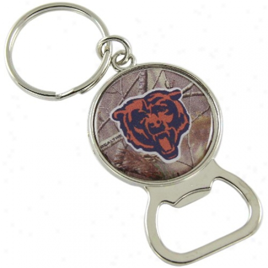 Chiccago Bears Real Tree Camo Bottle Opener Keychain