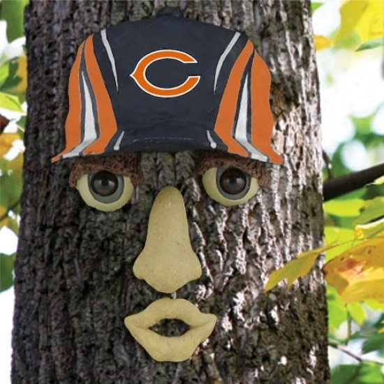 Chicago Bears Rezin Tree Face Ornament
