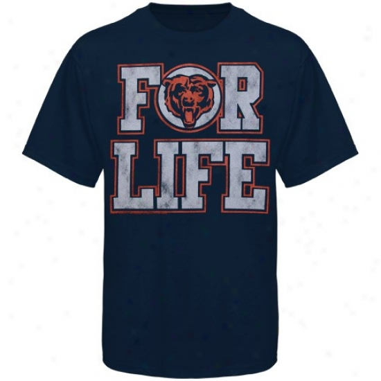 Chicago Bears Shirt : Junk Aliment Chicago Bears Navy Blue For Vitality Premium Shirt