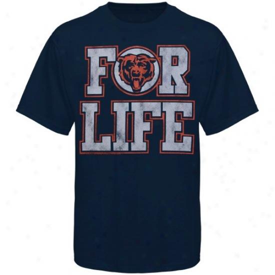 Chicago Bears Shirt : Junk Aliment Chicago Bears Navy Blue For Vitality Premium Shirt