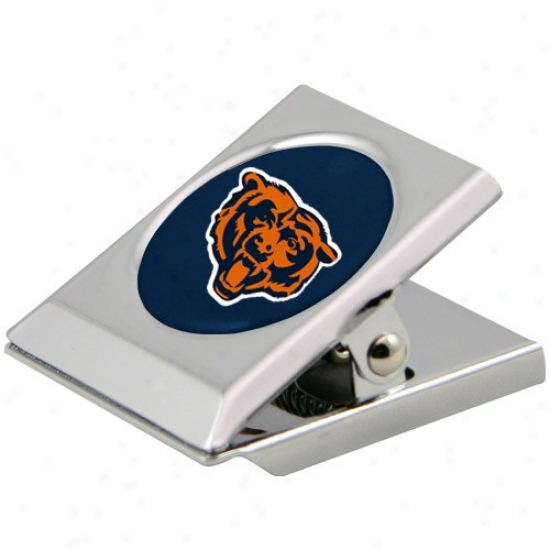 Chicago Bears Sikver Magnetic Stormy Duty Chip Clip