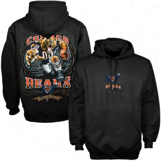 Chicago Bears Sweatshirts : Chicago Bears Black Running Back Sweatshirts