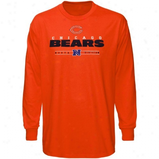 Chicago Bears T-shirt : Chicago Bears Orange Critica Victory Iv Protracted Sleeve T-shirt