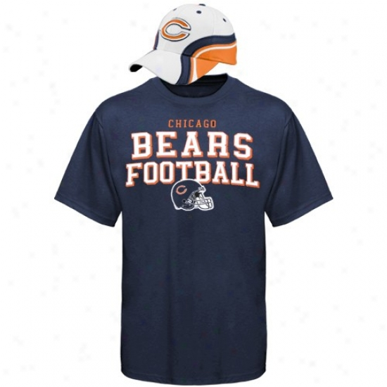Chicago Bears T Shirr : Reebok Chicago Bears Rivalry Hat & T Shirt Combo Suit