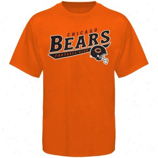 Chicago Bears T-shirt : Reebok Chicago Bears Youth Orange The Call Is Tails T-shirt