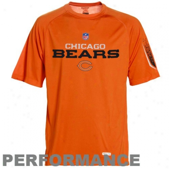 Chicago Bears T-shirt : Reebok Chicago Bears Youth Orange rPime Speedwick Performance Top
