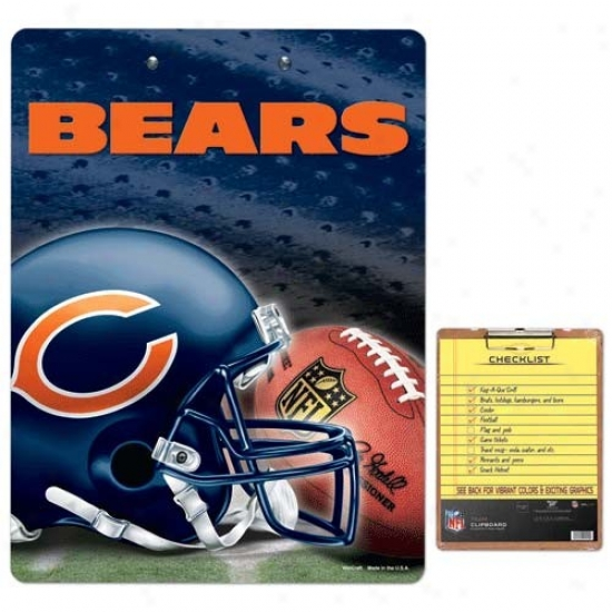 Chicago Bears Team Logo Clipboard