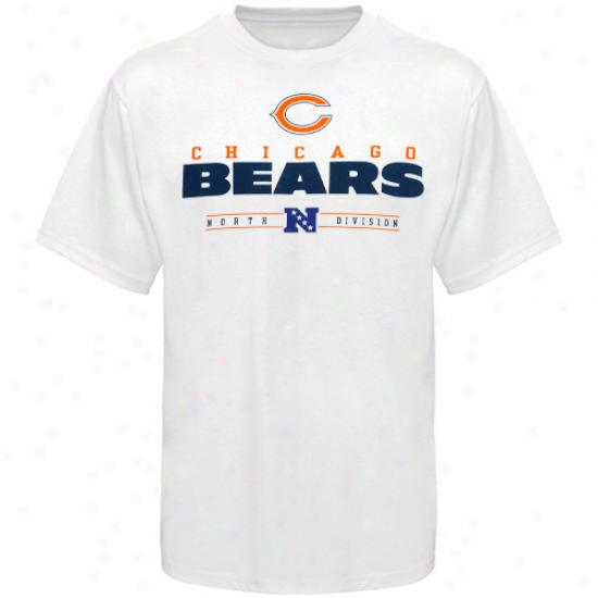 Chicago Bears Tshirt : Chicago Bears White Critical Victory Iv Tshirt