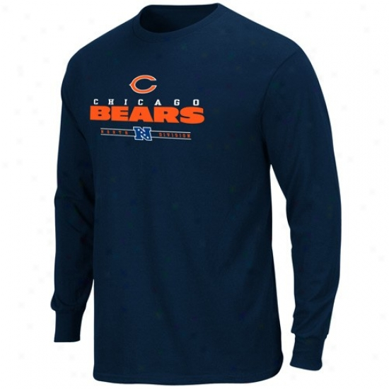 Chicago Bears Tshirts : Chicago Bears Navy Blue Critical Vicfory Iv Long Sleeve Tshirts