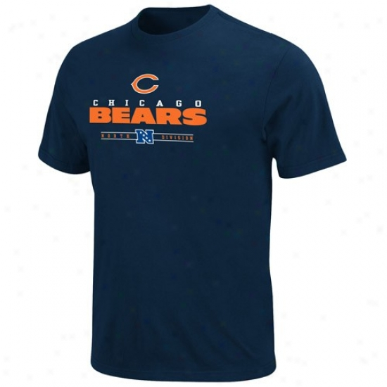 Chicago Bears Tshjrts : Chicago Bears Navy Blue Critical Victory Tshirts