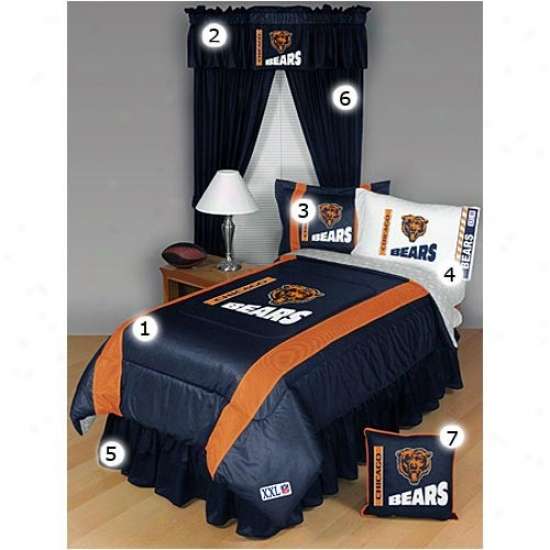 Chicago Bears Twin Sizing Sideline Bedroom Set