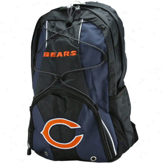 Chicago Bears Youth Navy Blue-black Darth Backpack