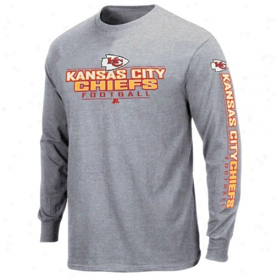 Chiefs Attire: Chiefs Ash Primary Receiver Long Sleeve T-shirt