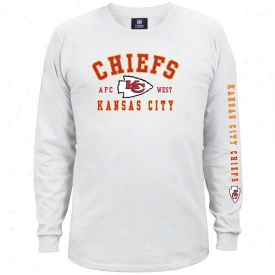 Chiefs Attire: Chiefs White Dual Threat Long Sleeve T-shir