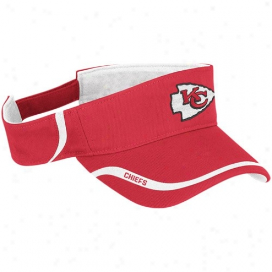Chiefs Hat : Reebok Chiefs Red 2010 Coaches Adjustbale Visor