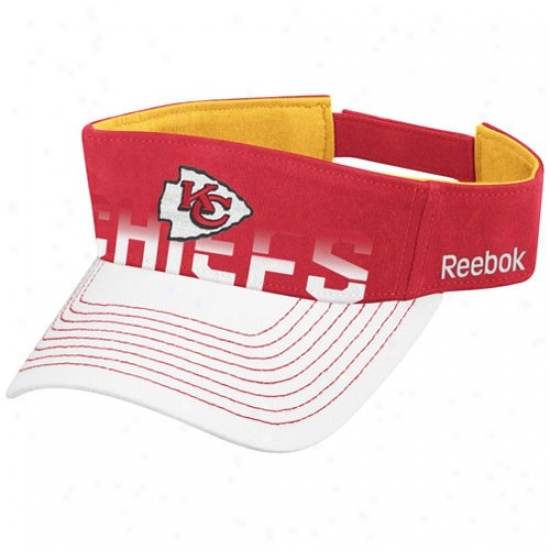 Chiefs Hat : Reebok Chiefs Red-white Players Visor
