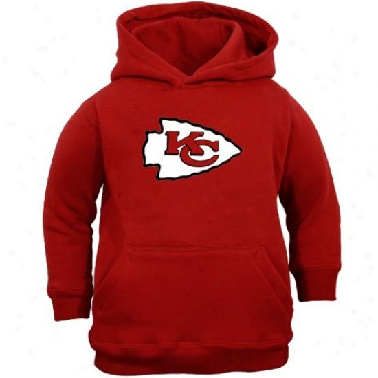 Chiefs Hoody : Reebok Chiefs Youth Red Primary Logo Hoody