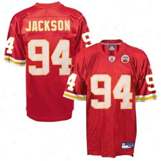 Chiefs Jersey : Reebok Nfl Equipment Chiefs #94 Tyson Jackson Afl 50th Anniversary Ree Replica Football Jersey