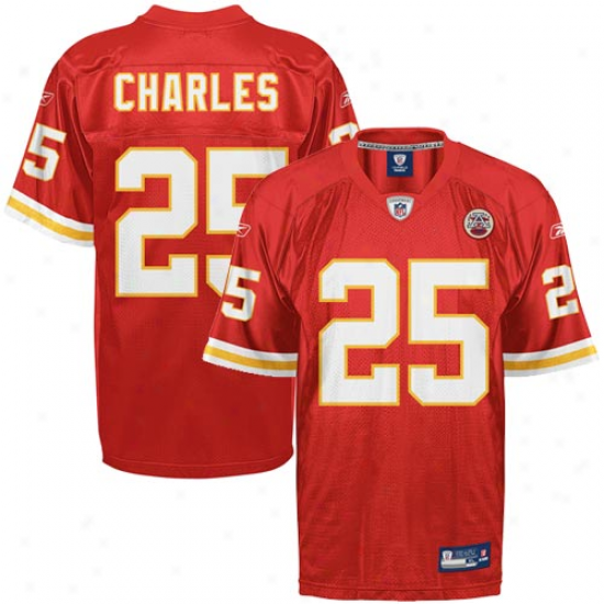 Chiefs Jerseys : Reebok Jamaal Charles Chiefs Replica Jerseys - Red