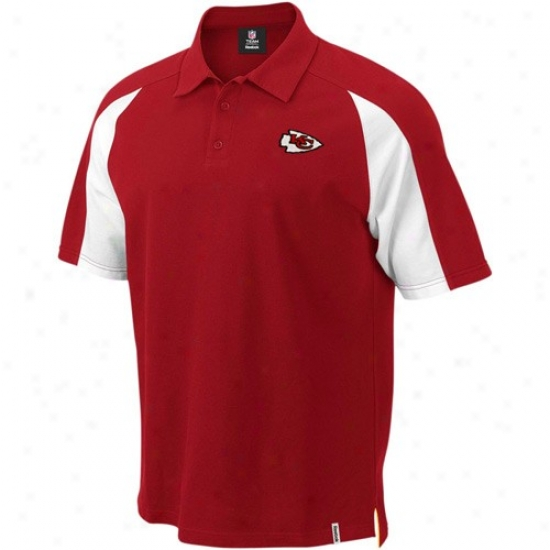 Chiefs Polos : Reebok Chiefs Red Stealthiness Pique Polos