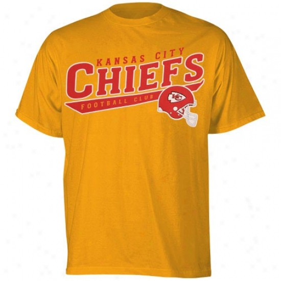 Chiefs Tshirts : Reebok Chiefs Gold The Call Is Tails Tshirts