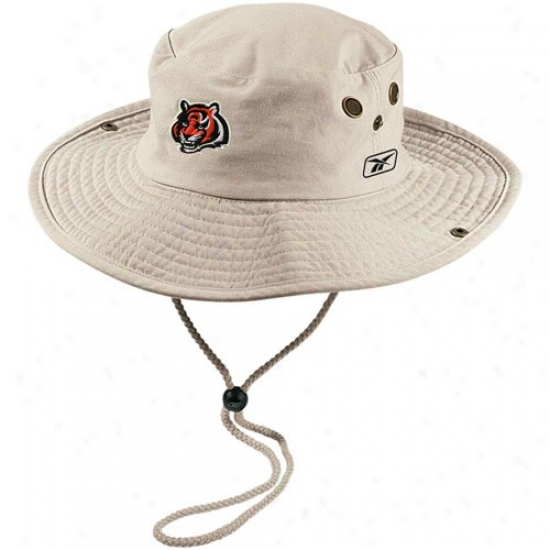Cincinnati Bengal Gear: Reebok Cincinnati Bengal Khaki Safari Fitted Hat