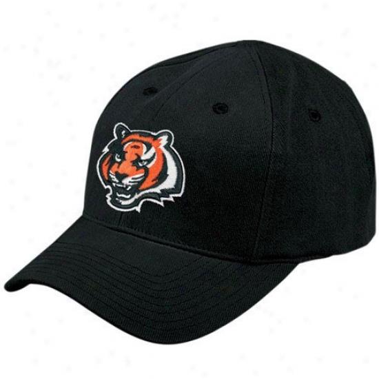 Cincinnati Bengal Gear: Reebok Cincinnati Bengal Toddler Black Basic Logo Adjustable Hat