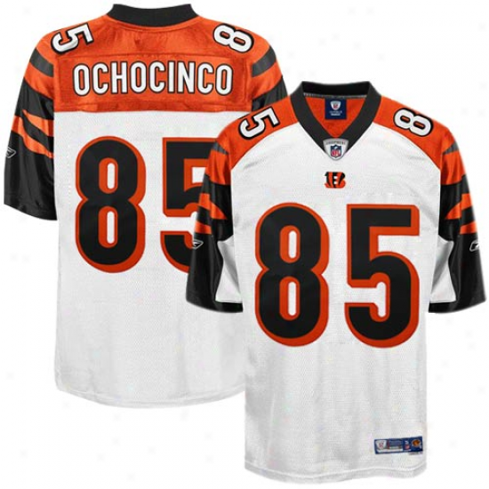 Cincinnati Bengal Jerseys : Reebok Chad Ochocinco Cincinnati Bengal Premier Tackle Twill Jerseys - White
