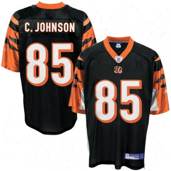 Cindinnati Bengal Jerseys : Reebok Cincinnati Bengal #85 Chad Johnson Black Toddler Replica Football Jerseys