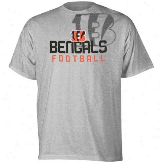 Cincinnati Bengal Shirt : Reebok Cincinnati Bengal Young men Ash Pointillism Shirt