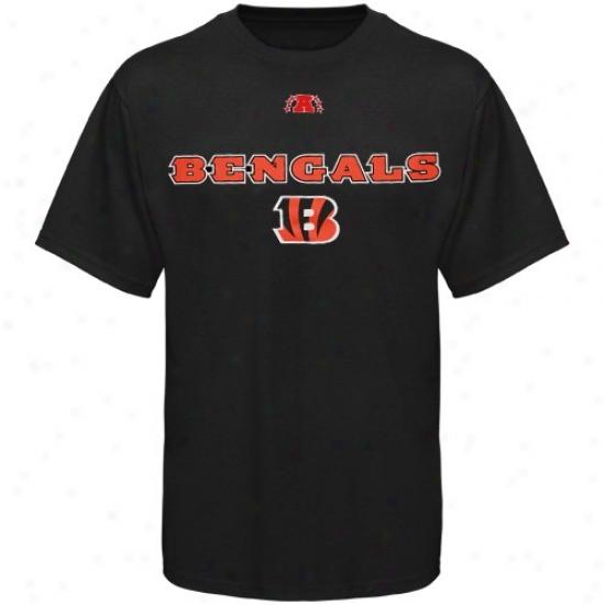 Cincinnati Bengal Shirts : Cincinnati Bengal Black Critidal Victory Iii Shirts
