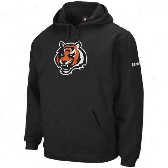 Cincinnati Bengal Sweat Shirts : Reebok Cincinnati Bengao Bllack Playbook Sweat Shirts