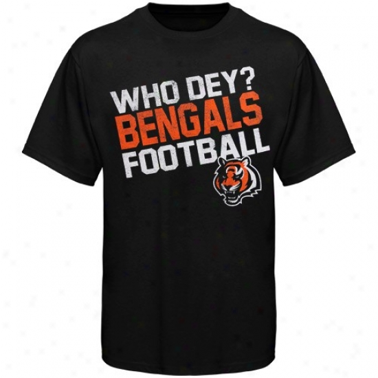 Cincinnati Bengal T Shirt : Reebok Cijcinnati Bengal Youth Black Loud Chant T Shirt
