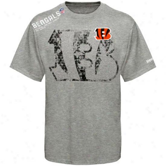 Cincinnati Bengal T-shirt : Reebok Cincinnati Bengal Youth Ash Sideline Stealth T-shirt