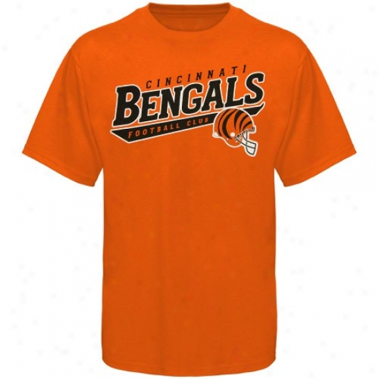 Cincinnati Bengal Tees : Reebok Cincnnati Bengal Orange The Call Is Tails Tees