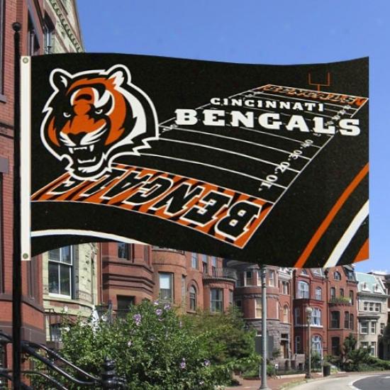 Cincinnati Bengals Banners : Cincinnati Bengals 3' X 5' Field Banners