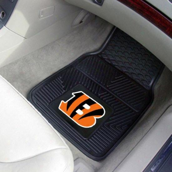 Cincinnati Bengals Black 2-piece Vinyl Car Mat Set