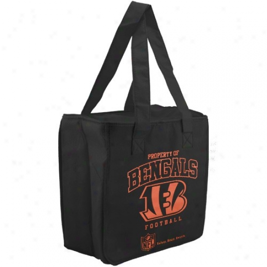 Cincinnati Bengals Black Reusable Insulated Tote Bag