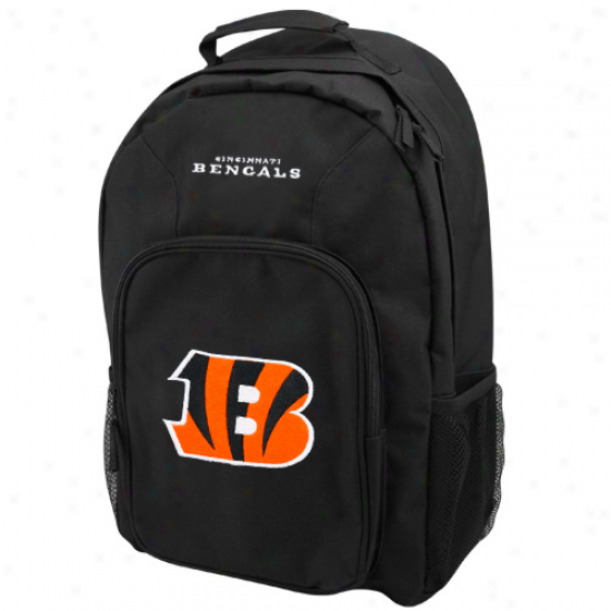 Cincinnati Bengals Black Southpaw Backpack