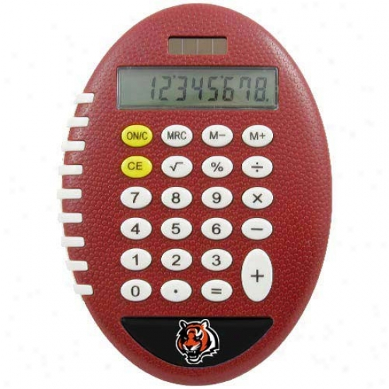 Cincinnati Bengals Brown Football Pro-grip Calculator