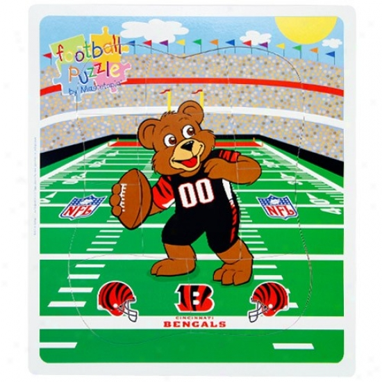 Cincinnati Bengals Football Bear Puzzle