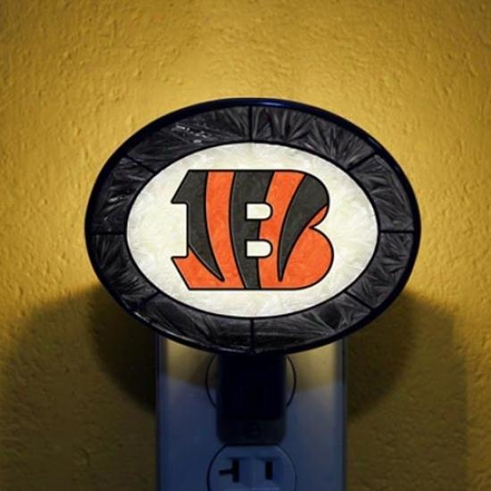 Cincinnati Bengals Hand-painted Glass Nightlight