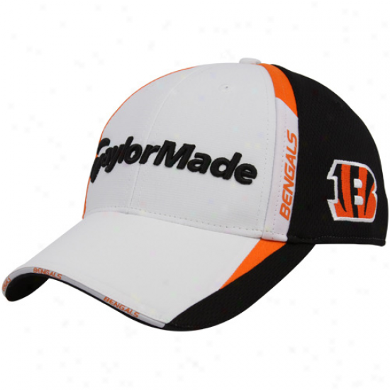 Cincinnati Bengals Hat : Taylormade Cincinnati Bengals White-black 2010 Nfl Golf Adjustable Hat