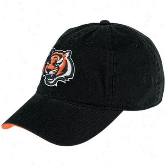 Cincinnati Bengals Hats : Reebok Convinnati Bengals Black Basic Logo Slouch Hats