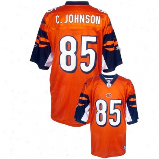 Cincinnati Bengals Jersey : Reebok Nfl Equipment Cicninnati Bengals #85 Chad Johnson Orange Alternate Rrplica Football Jersey