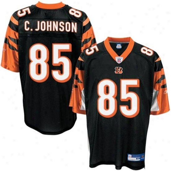 Cincinnati Bengals Jerseys : Reebok Nfl Equipment Cincinnati Bengals #85 Chad Johnson Black Premier Tackle Twill Football Jerseys