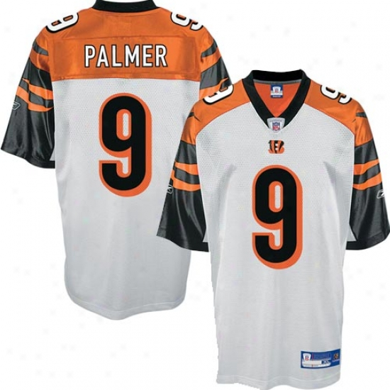 Cincinnati Bengals Jerseys : Reebok Nfl Equipment Cincinnati Bengals #9 Carson Palmer Happy Replica Football Jerseys