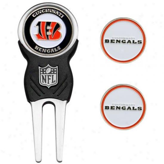 Cincinnati Bengals Nfl Divot Tool & Ball Marker Set
